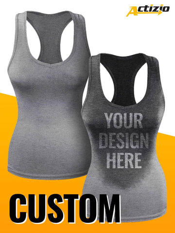 Custom Ladie's Sweat Activated Tank Top - DESIGN YOUR OWN!