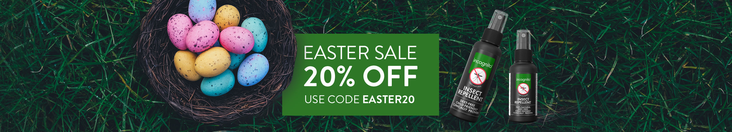 Use code EASTER20 on checkout