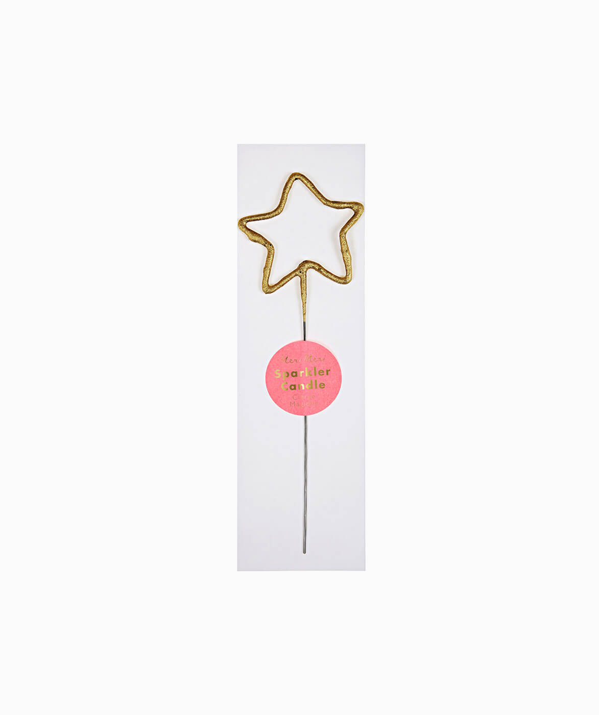 GOLD SPARKLER CANDLE STAR
