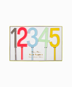 MULTICOLOR NUMBER CAKE TOPPERS