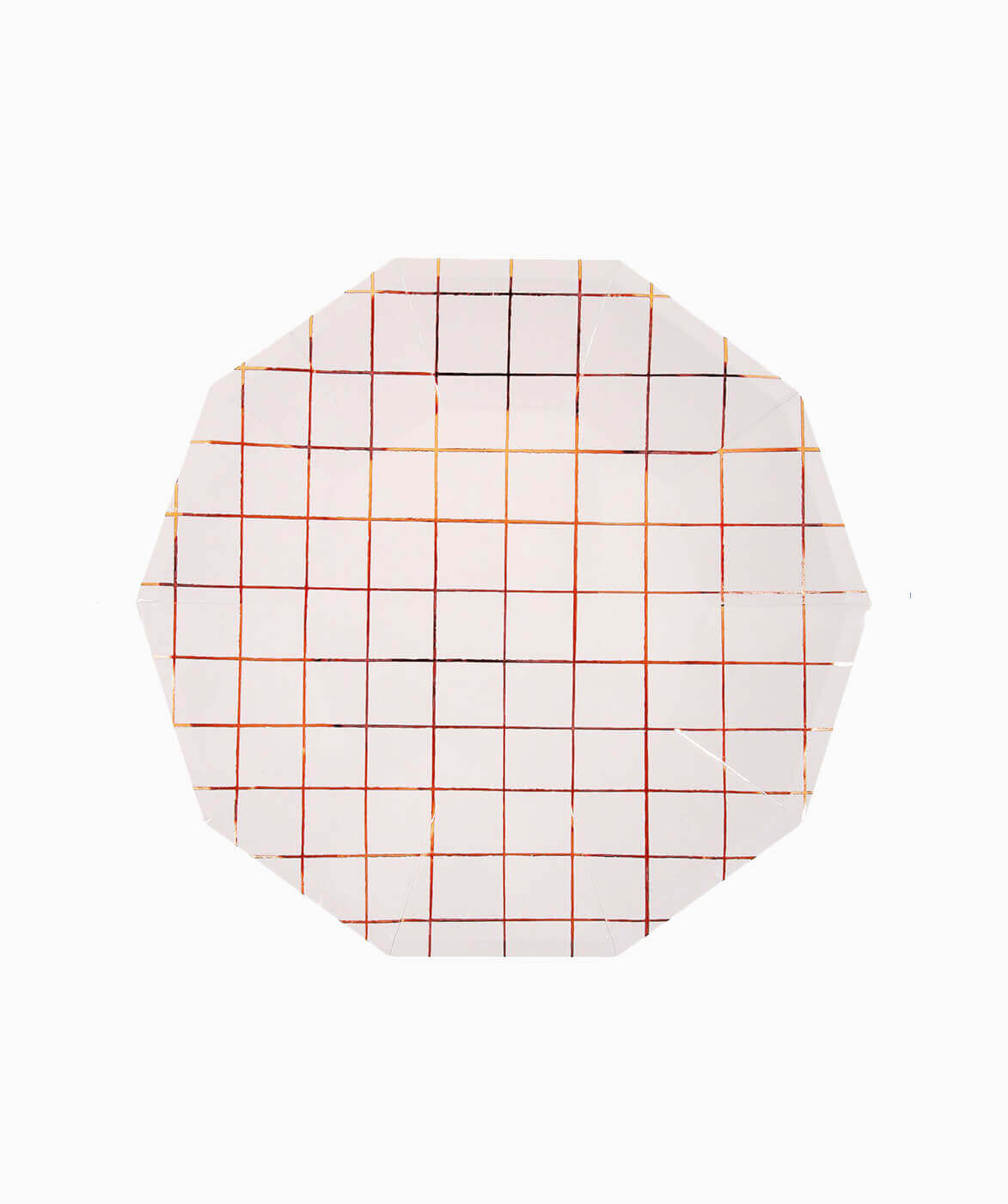 LARGE ROSE GOLD GRID PLATES