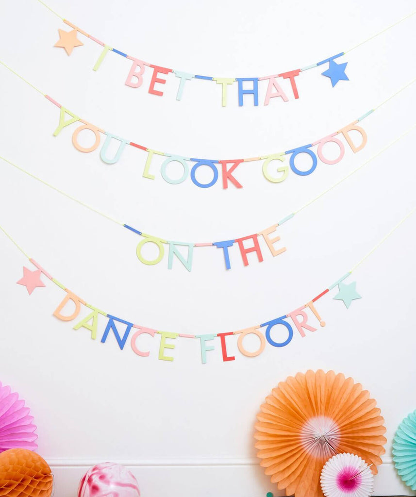 MULTICOLOR LETTER GARLAND (ONLY 1 LEFT IN STOCK)
