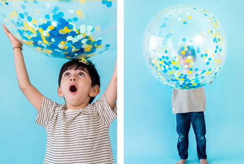 GIANT BLUE CONFETTI BALLOON