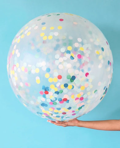 GIANT MULTICOLOR CONFETTI BALLOON