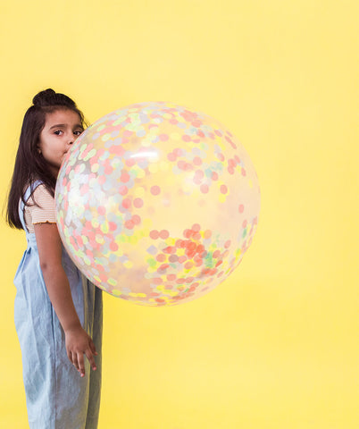 GIANT NEON CONFETTI BALLOON KIT