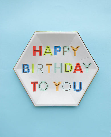 LARGE HAPPY BIRTHDAY PLATES (ONLY 3 LEFT IN STOCK)
