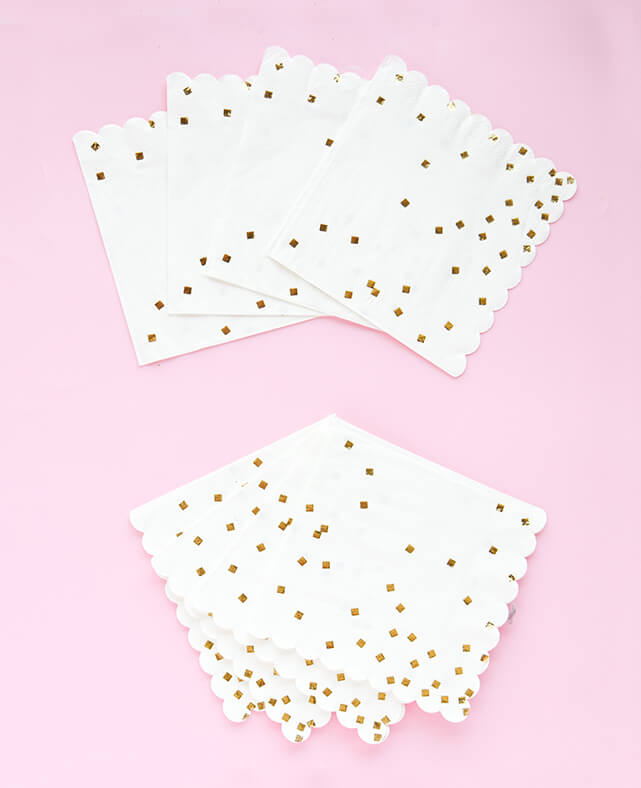 LARGE GOLD CONFETTI NAPKINS