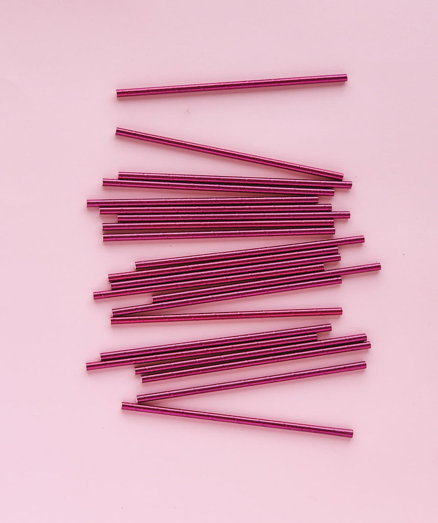 PINK FOIL STRAWS ( ONLY 3 LEFT IN STOCK)