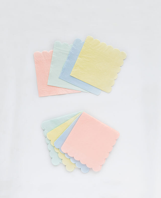 SMALL PASTEL NAPKINS (ONLY 2 LEFT IN STOCK)