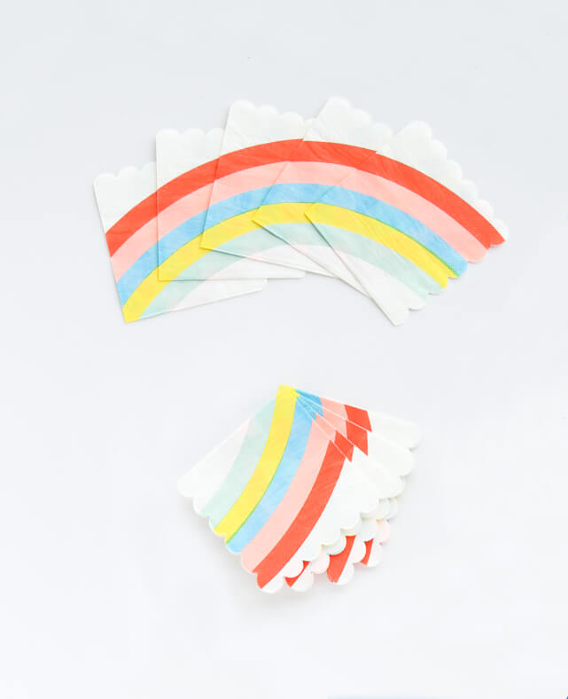 SMALL RAINBOW NAPKINS