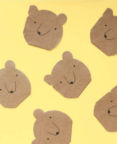 SMALL BEAR SHAPED NAPKINS (ONLY 3 LEFT IN STOCK)