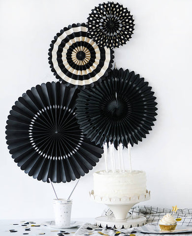 BLACK PARTY FANS (ONLY 3 LEFT IN STOCK)