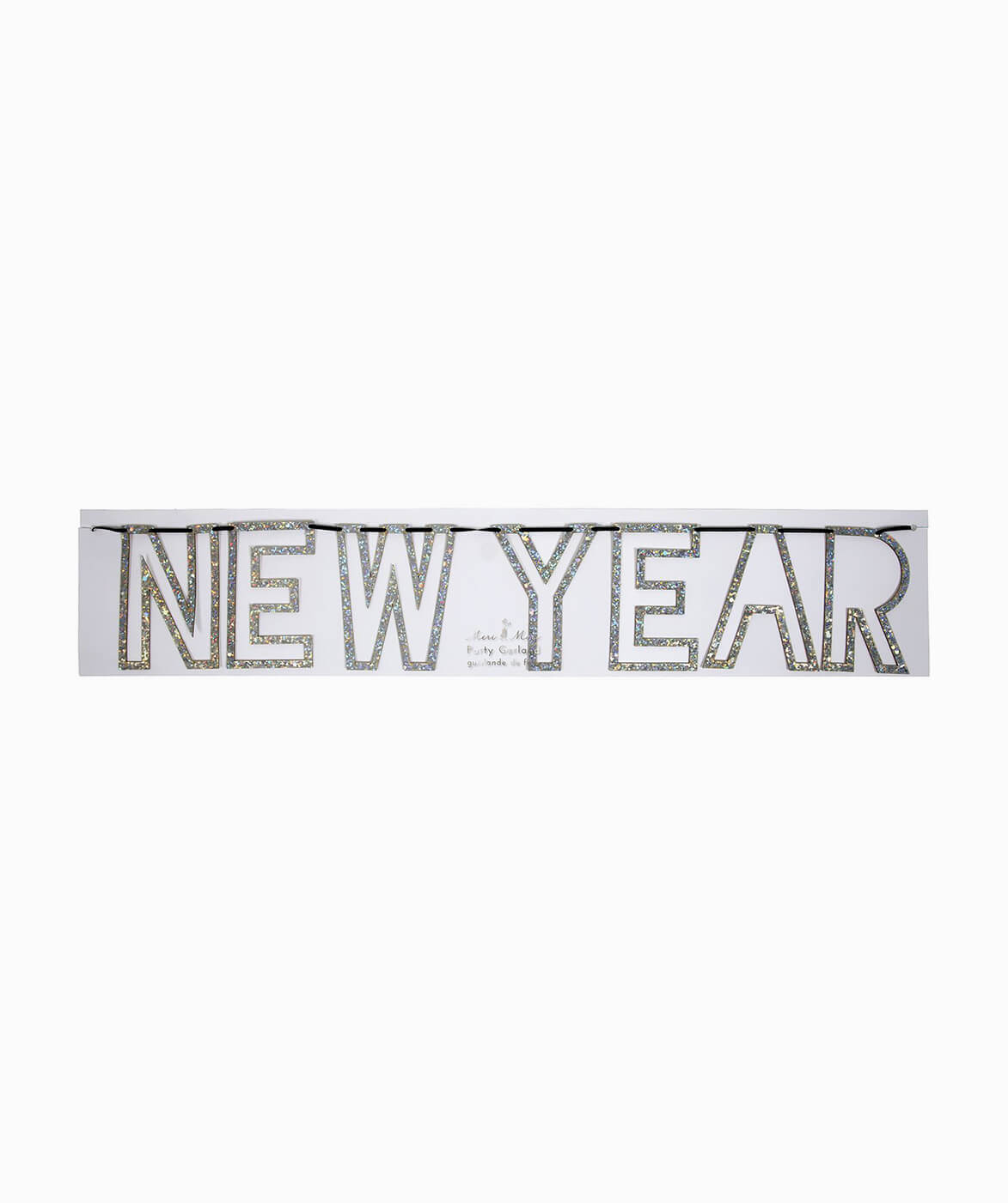 SIVER GLITTER HAPPY NEW YEAR GARLAND