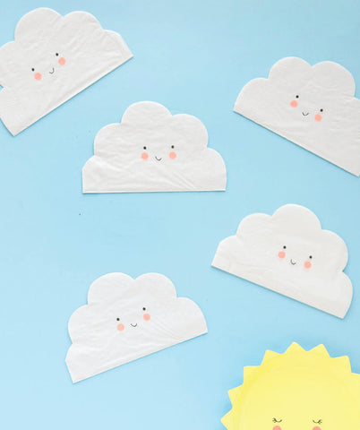SMALL CLOUD SHAPED NAPKINS