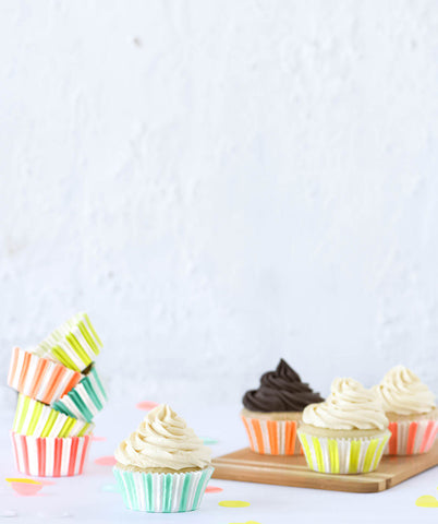 NEON STRIPED CUPCAKE CASES(ONLY 3 LEFT IN STOCK)