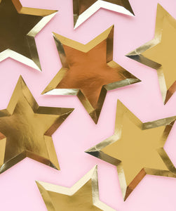 GOLD STAR SHAPED PLATES