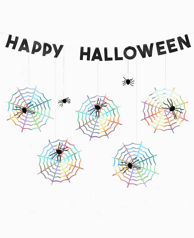 SPIDER WEB HALLOWEEN GARLAND