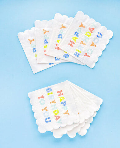 SMALL HAPPY BIRTHDAY NAPKINS (ONLY 2 LEFT IN STOCK)