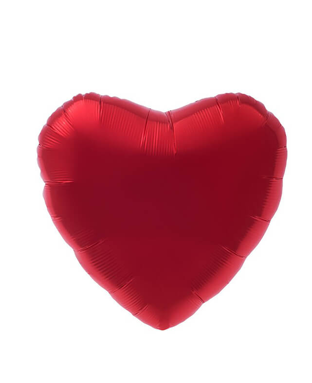 MYLAR HEART BALLOON RED