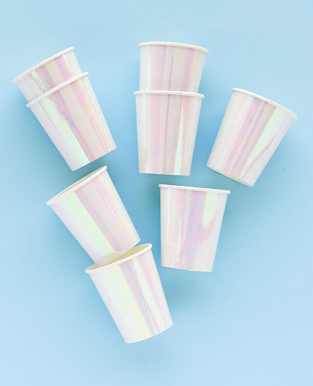 IRIDESCENT CUPS (ONLY 1 LEFT IN STOCK)