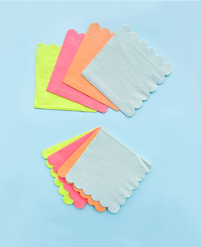 SMALL NEON NAPKINS