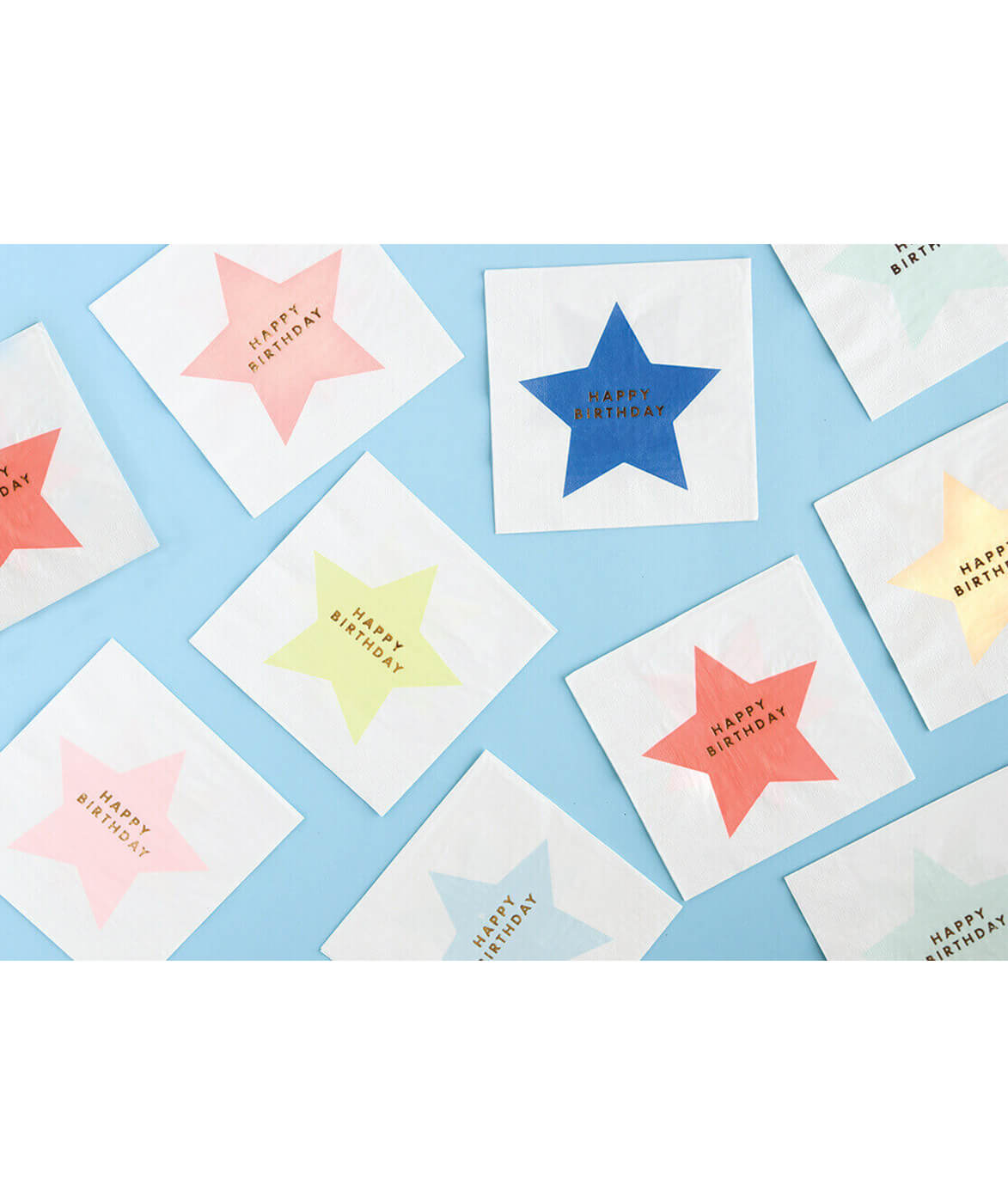 LARGE NEON STAR NAPKINS