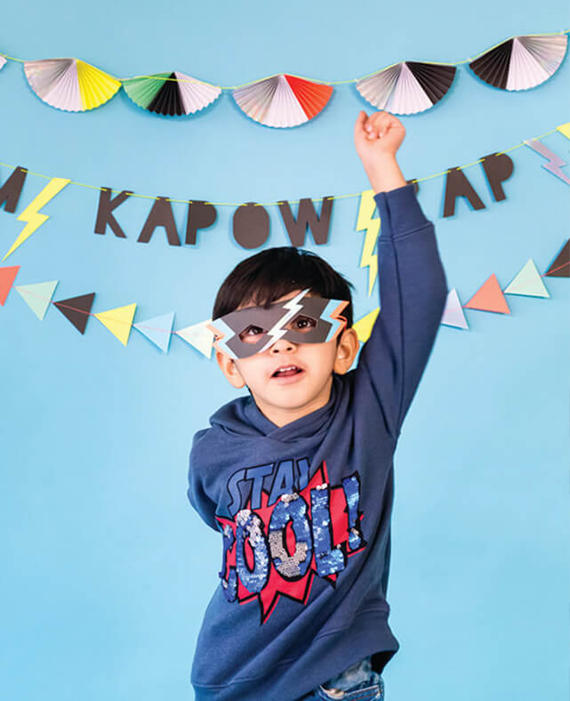 SUPERHERO PARTY MASKS (ONLY 5 LEFT IN STOCK)