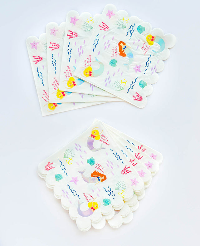 LARGE LET'S BE MERMAIDS NAPKINS (ONLY 3 LEFT IN STOCK)