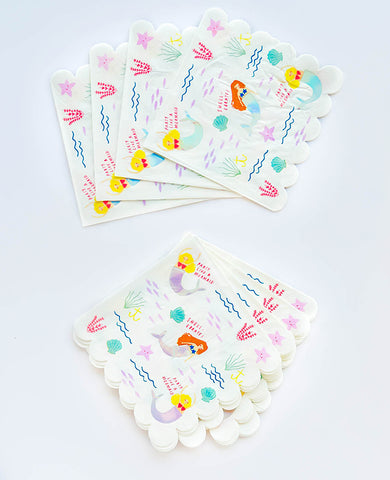 LARGE LET'S BE MERMAIDS NAPKINS