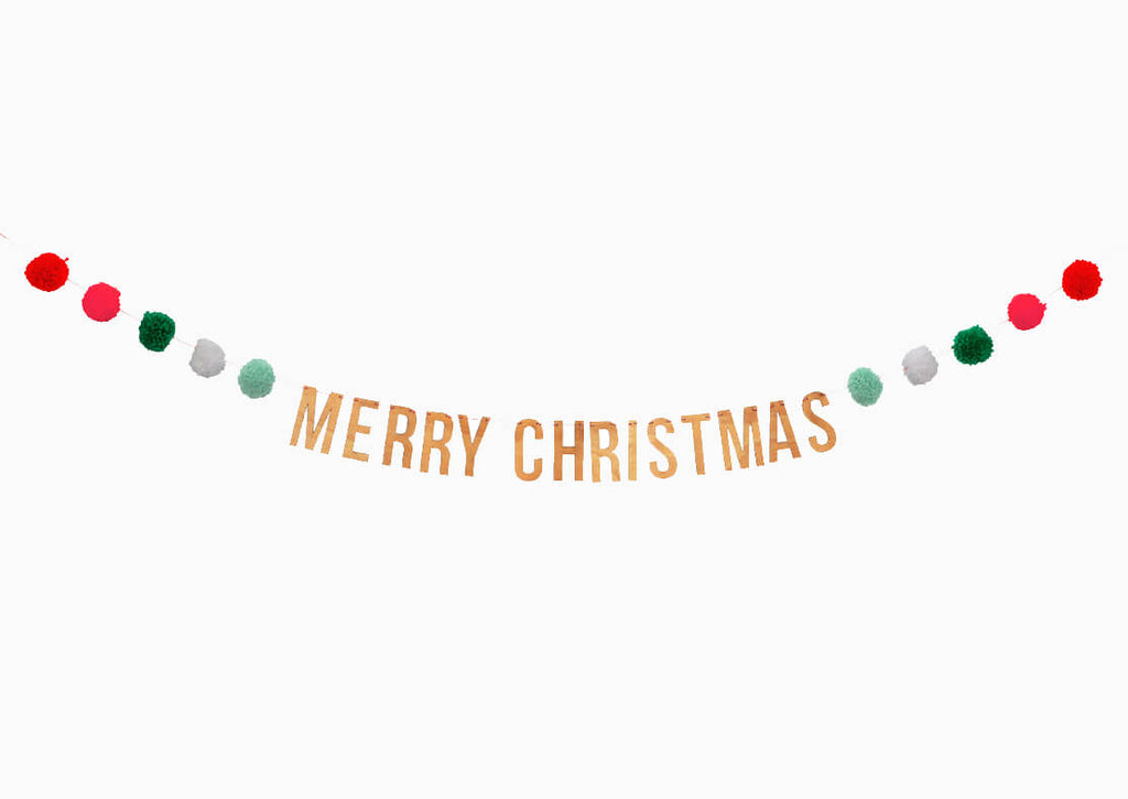 MERRY CHRISTMAS LETTER GARLAND