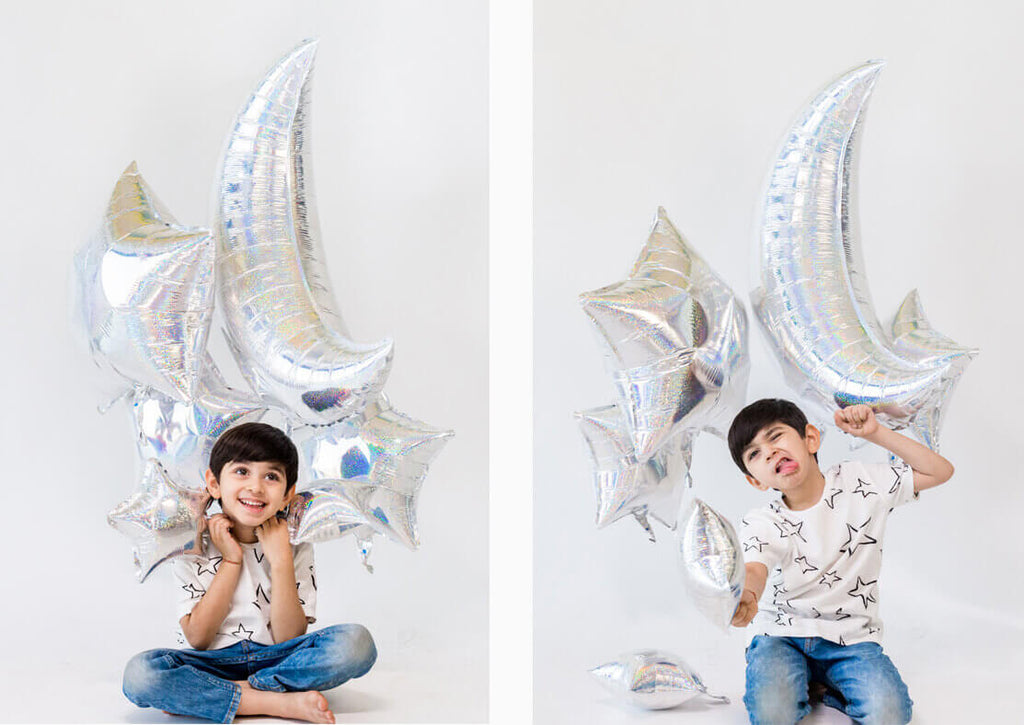 MOON AND STAR FOIL BALLOON KIT
