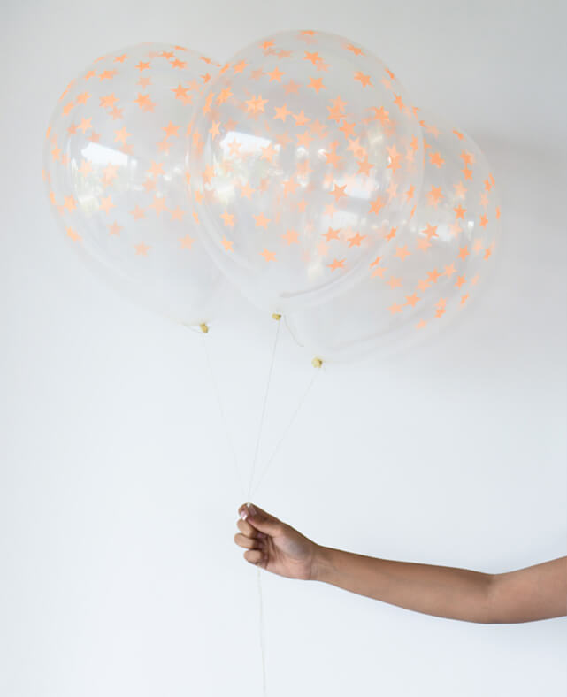 NEON ORANGE STAR BALLOON KIT
