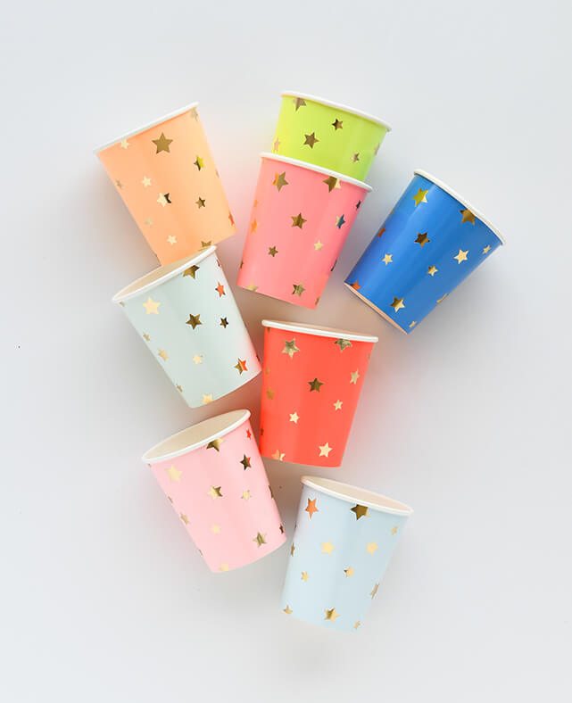 MULTICOLOR STAR CUPS (ONLY 2 LEFT IN STOCK)