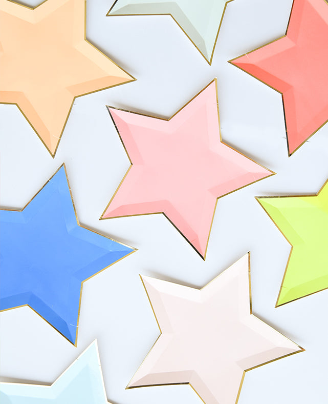 MULTICOLOR STAR SHAPED PLATES
