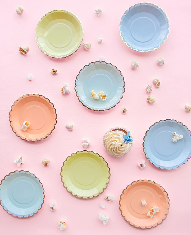 CANAPE PASTEL PLATES ( ONLY 2 LEFT IN STOCK)