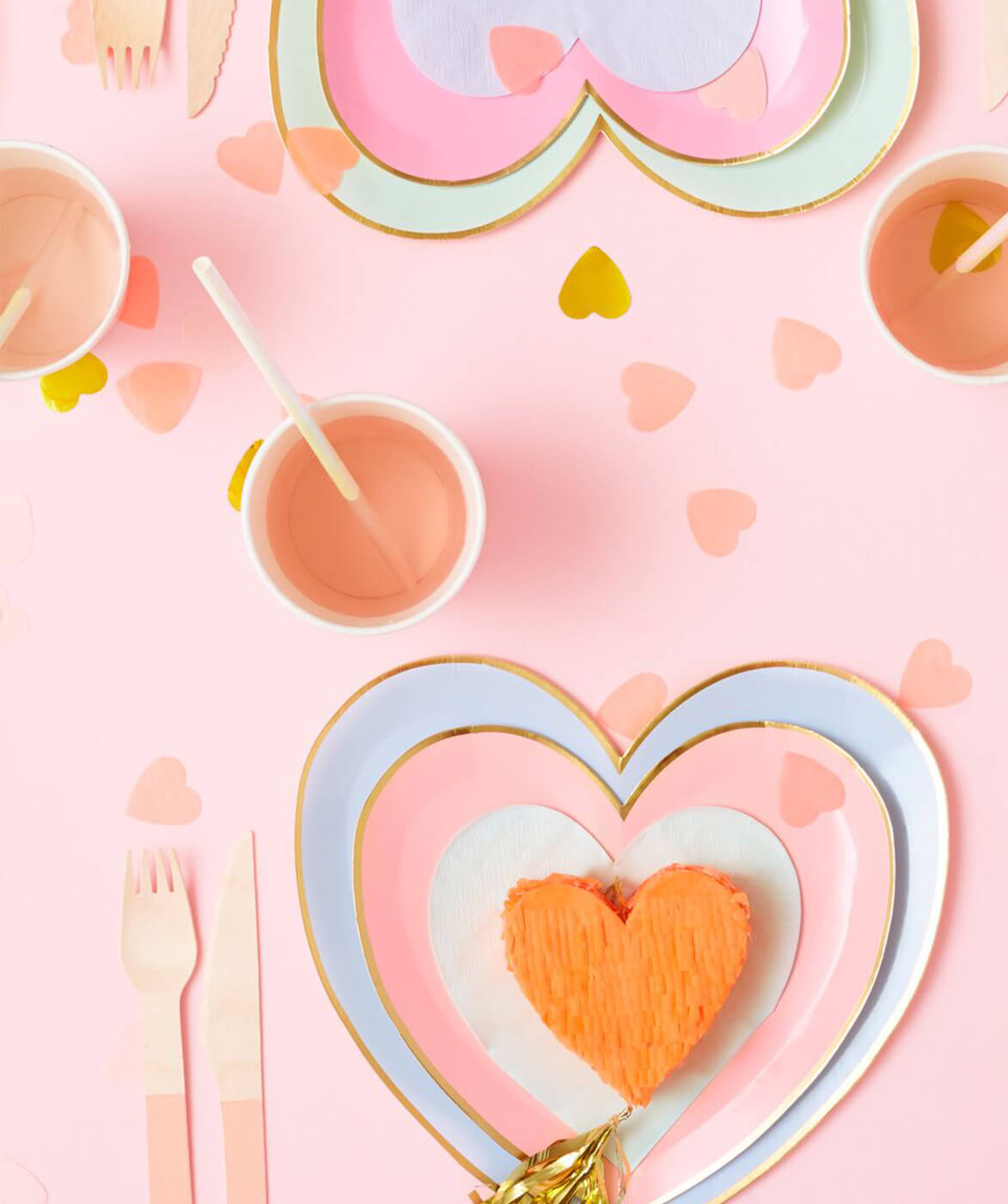LARGE  HEART SHAPED PLATES