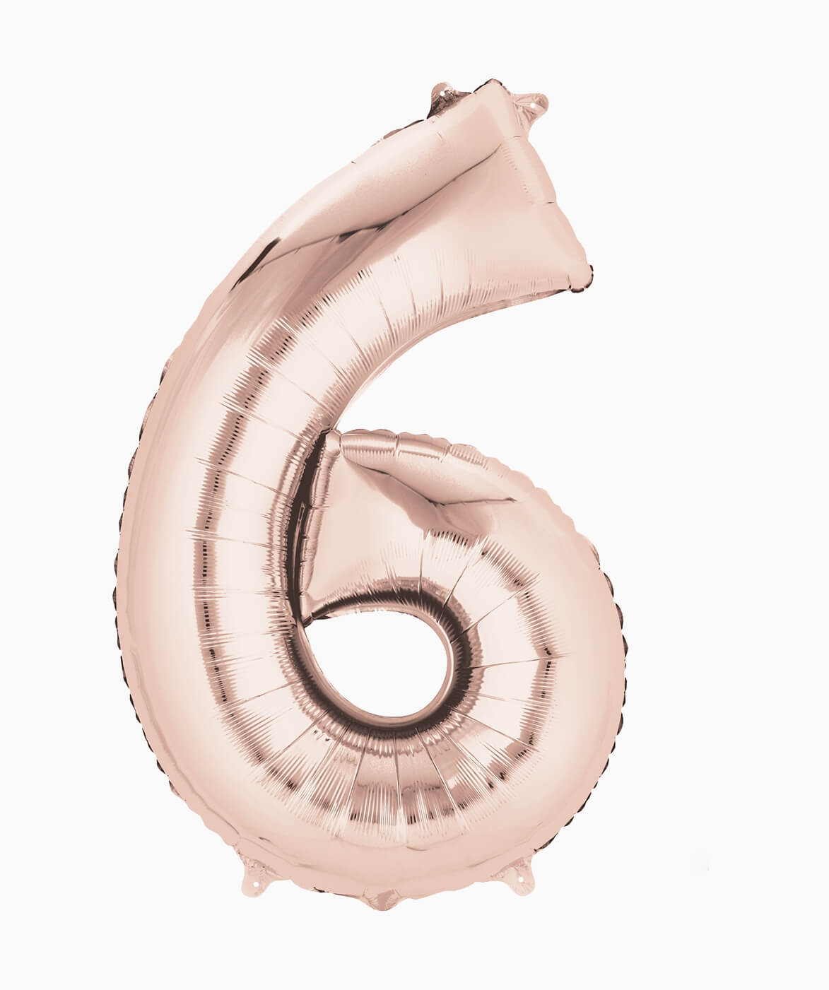 ROSE GOLD NUMBER BALLOON SIX