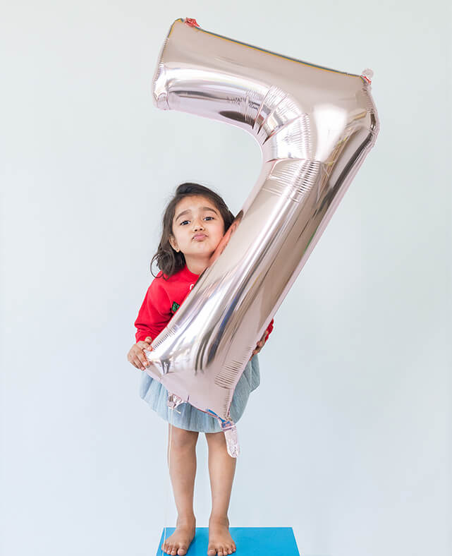 ROSE GOLD NUMBER BALLOON SEVEN (ONLY 2 LEFT IN STOCK)