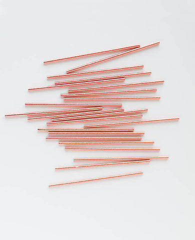 ROSE GOLD FOIL STRAWS