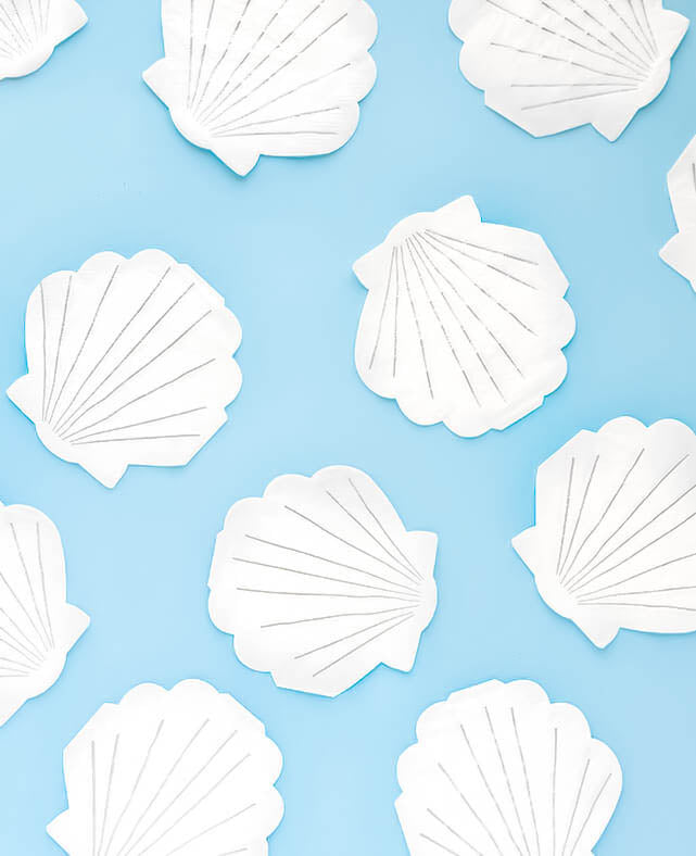 SMALL SHELL SHAPED NAPKINS (ONLY 3 LEFT IN STOCK)