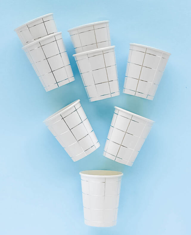 SILVER GRID CUPS