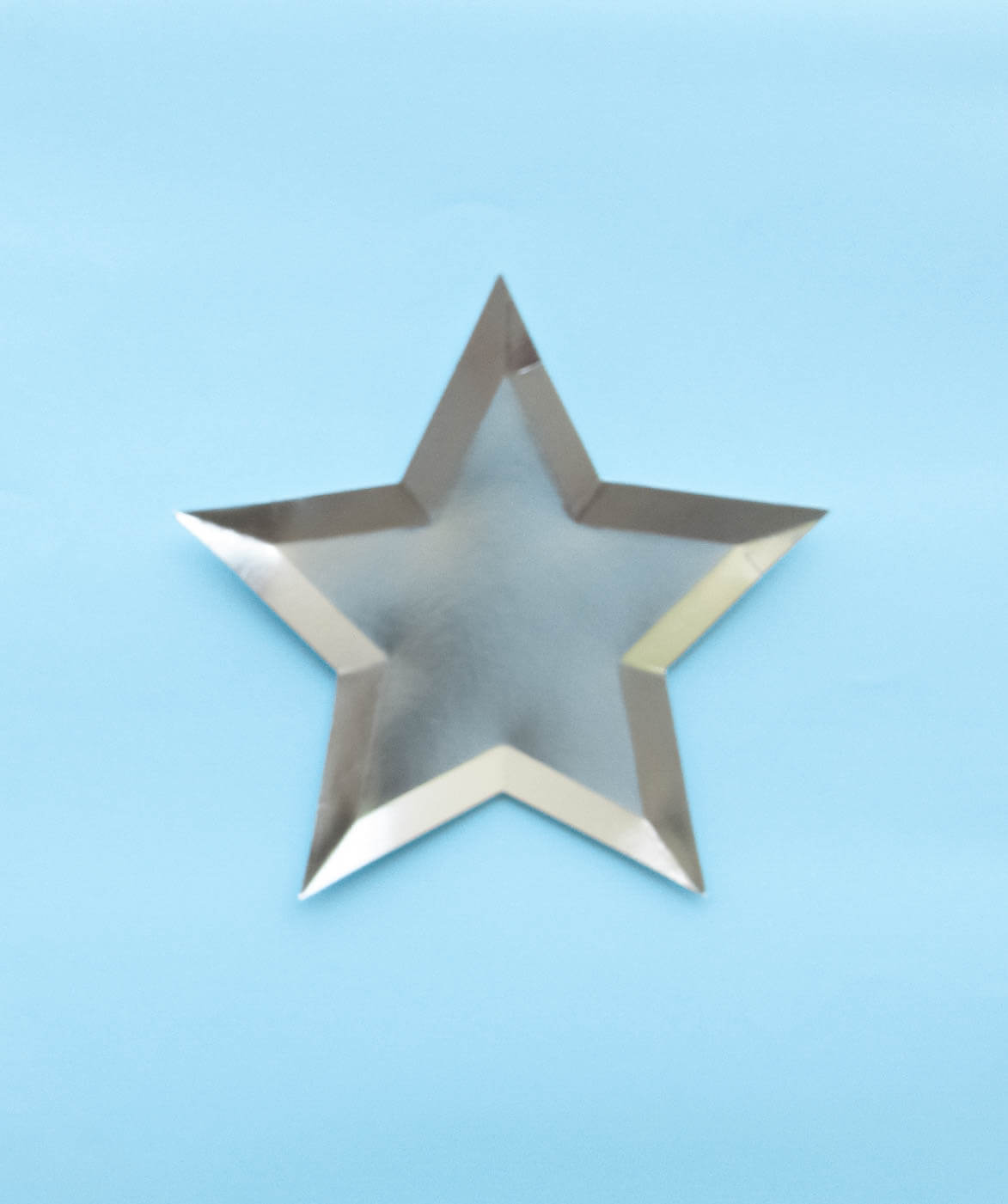 SIVER STAR SHAPED PLATES