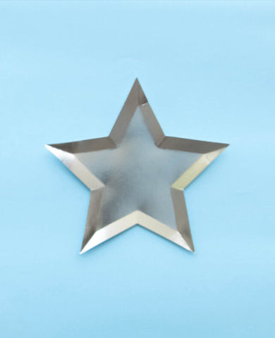 SIVER STAR SHAPED PLATES (ONLY 1 LEFT IN STOCK)