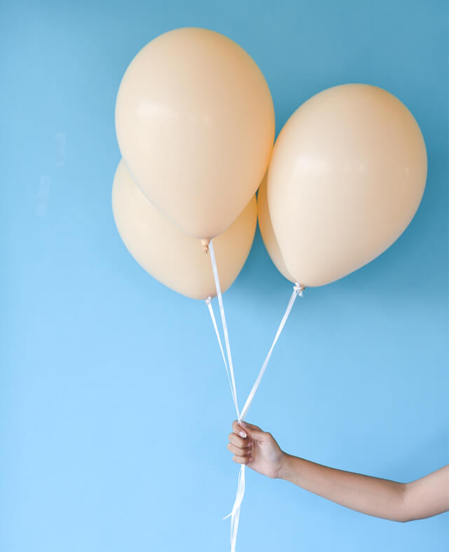 STANDARD BLUSH BALLOONS (ONLY 3 LEFT IN STOCK)