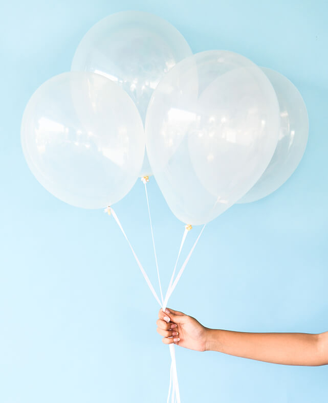 STANDARD CLEAR BALLOONS ( ONLY 2 LEFT IN STOCK)