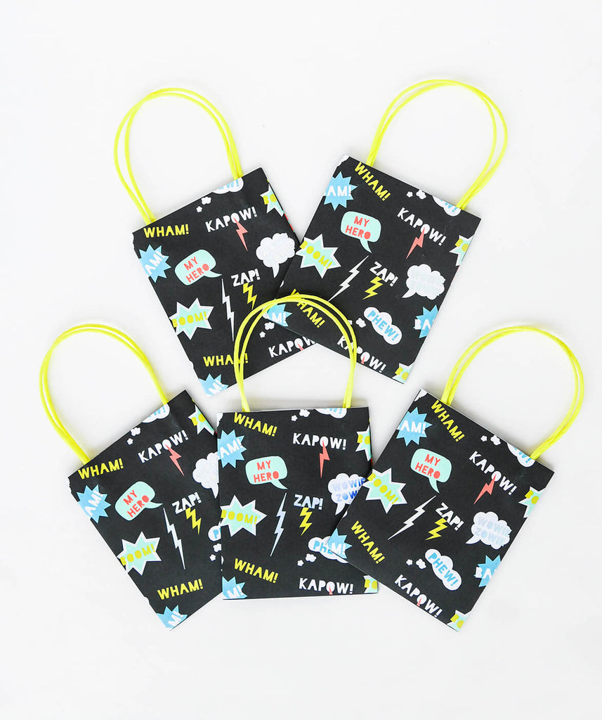 SUPERHERO PARTY BAGS (ONLY 4 LEFT IN STOCK)
