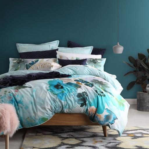 Logan and Mason Mint Quilt Cover Set