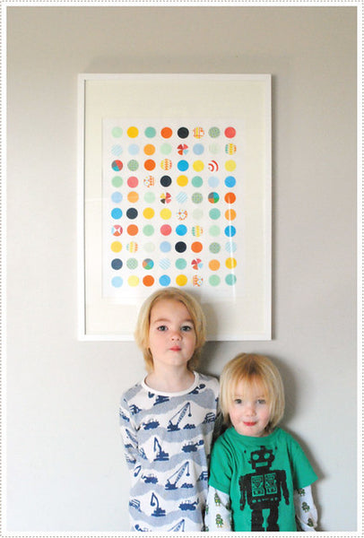 wall art with kids