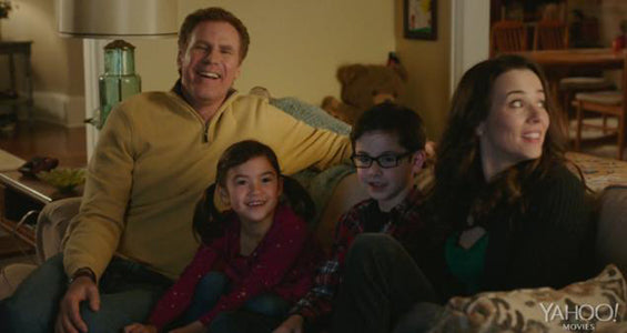 will ferrel enjoying a movie night in daddy's home
