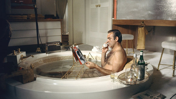 sean connery taking a bath